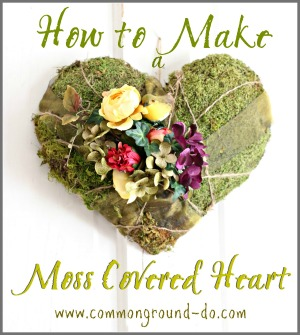DIY Moss Covered Heart