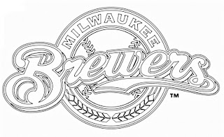 Escudo de los Brewers de Milwaukee para colorear