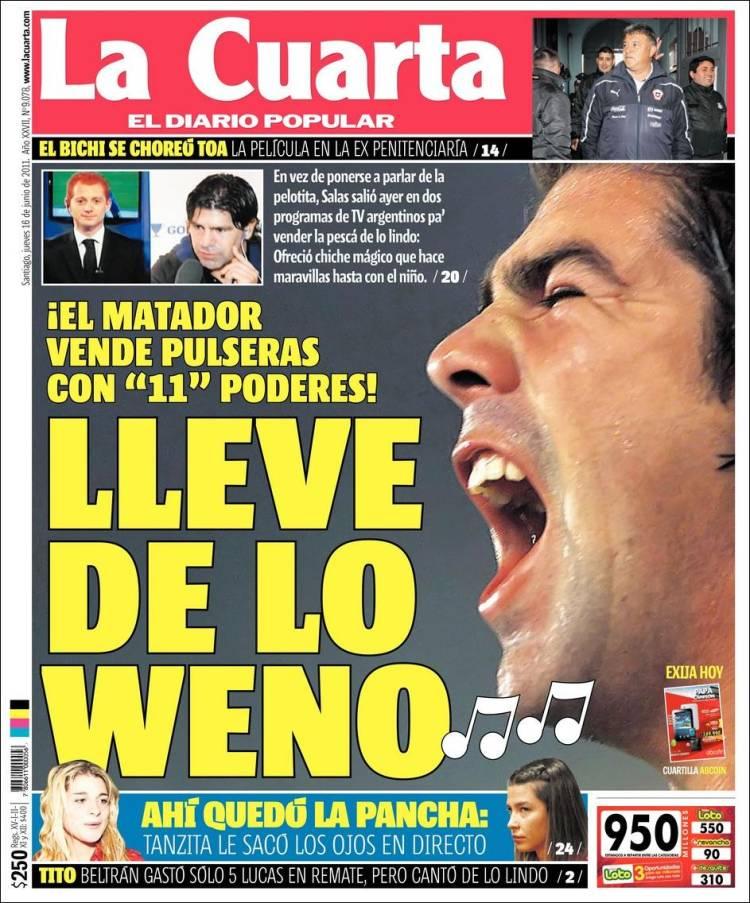 NOMEN MUNAY: DIARIOS DEL MUNDO: LA CUARTA DE CHILE