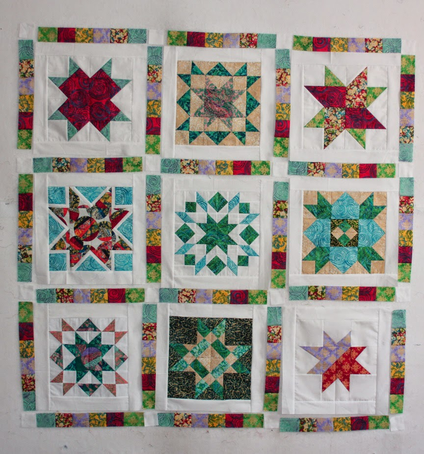 Inspired by Fabric: Tutorial: Star Sampler Quilt Assembly