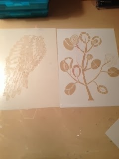 how to use cardboard as a lino stencil