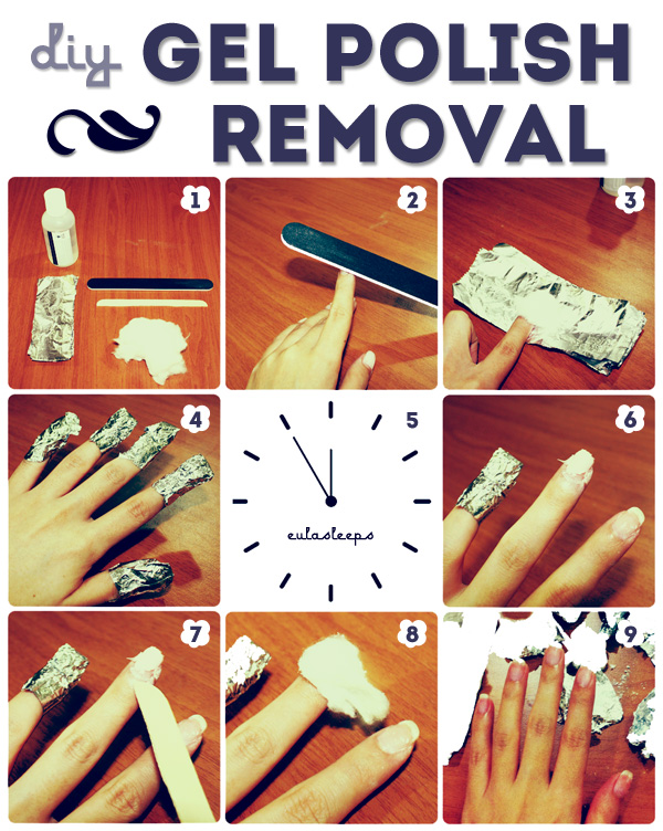 Eula sleeps diy how to remove gel polish gel polish is great for busy individuals its truly long wearing chip resistant and practically scratch proof it starts peeling weeks after application solutioingenieria Choice Image