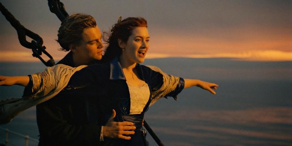 Leonardo DiCaprio e Kate Winslet em TITANIC em 3D