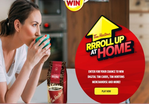 Tim Hortons Roll Up at Home Contest