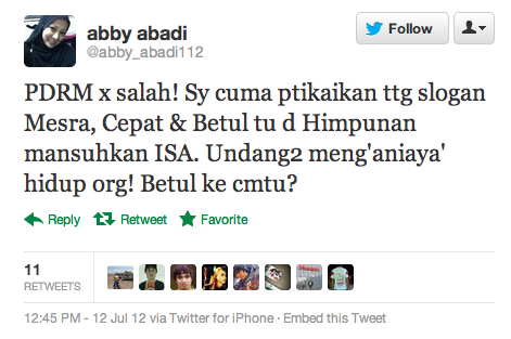 AC Mizal Cabar Abby Abadi Berdebat Isu PDRM