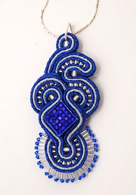 sutasz naszyjnik wisior soutache pendant necklace 24