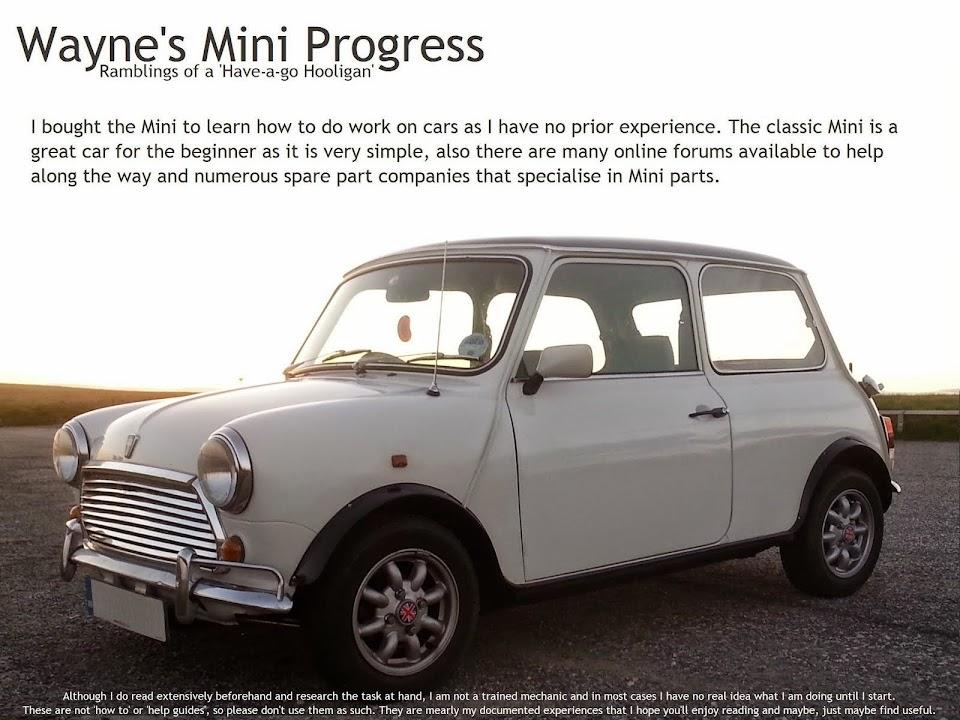 Wayne's Mini Progress