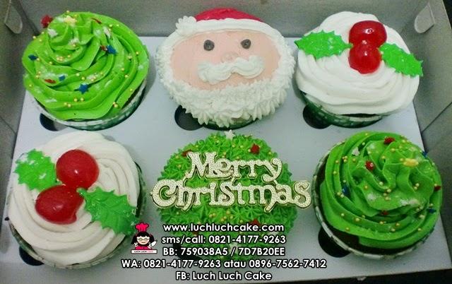 Cupcake Buttercream Christmas Daerah Surabaya - Sidoarjo