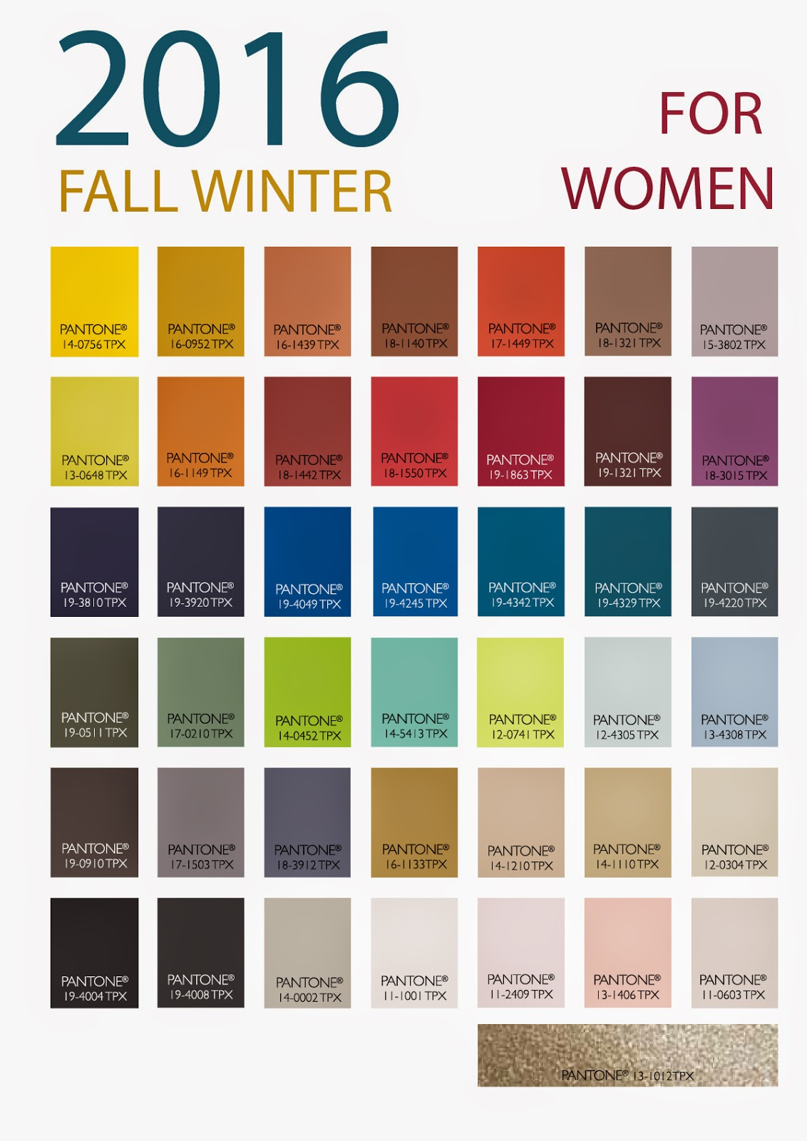 2016 Winter Fall Color Trends