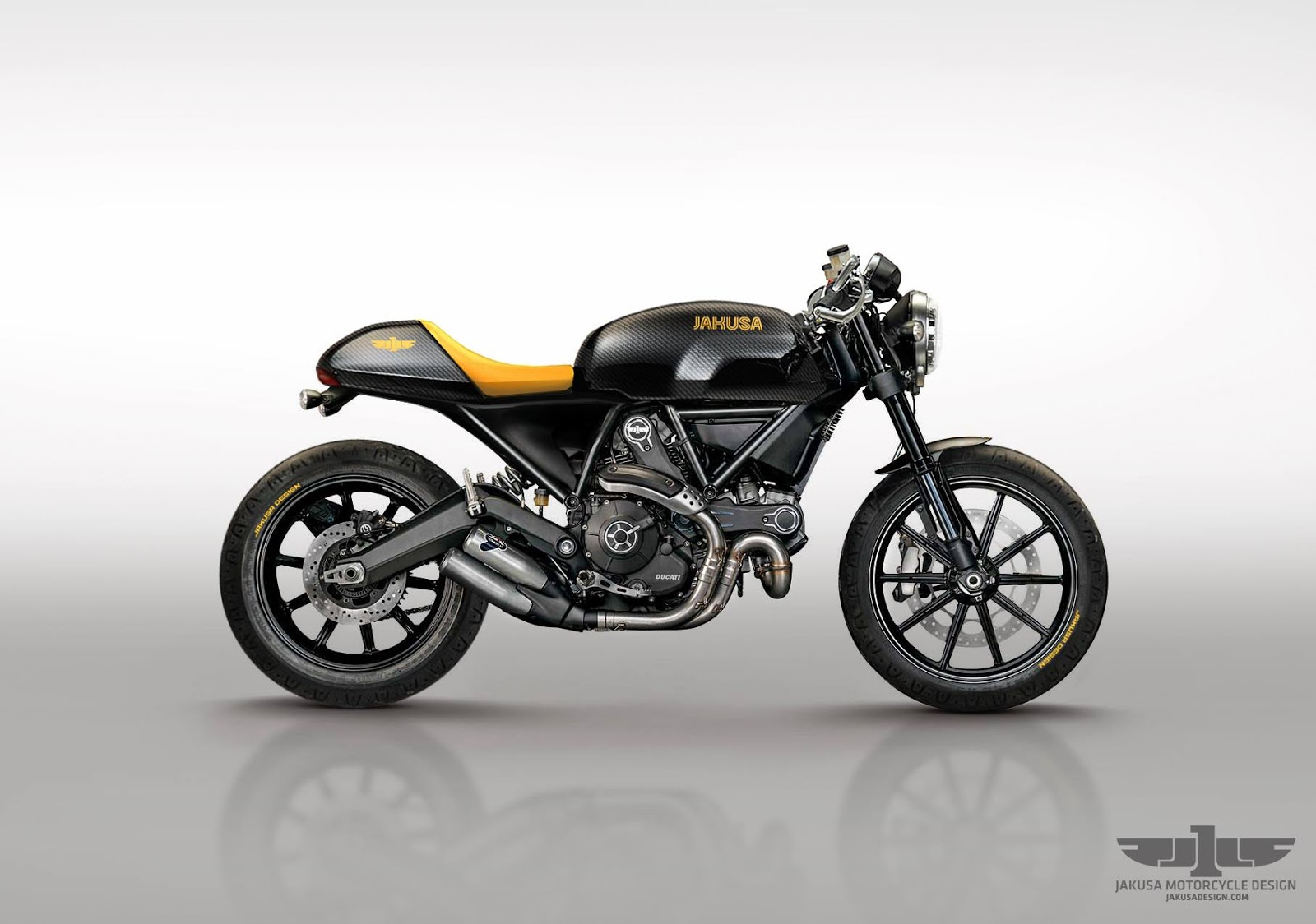 racing caf design corner ducati scrambler caf racer by jakusa design. Black Bedroom Furniture Sets. Home Design Ideas