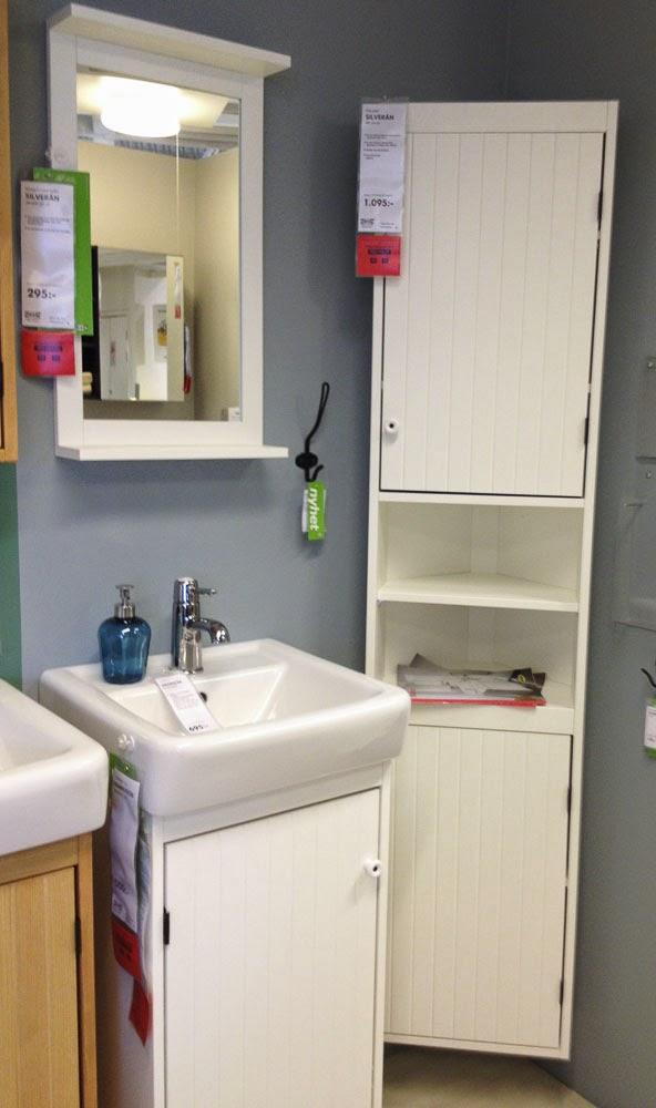 badrumsförvaring, badrumsskåp, silverån, ikea