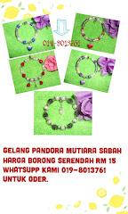 gelang mutiara Pandora silver rm 15  hrga borong