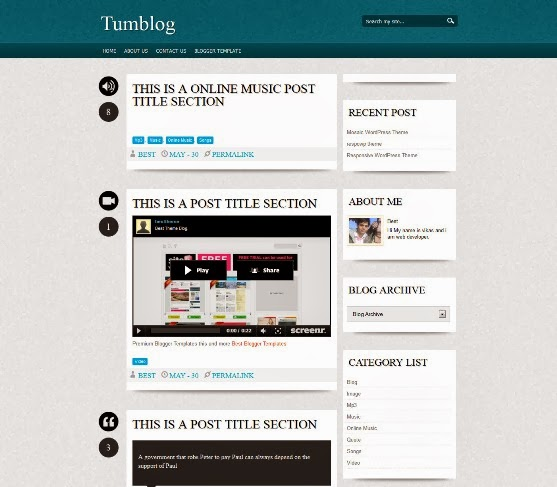 Quade Blogger Template