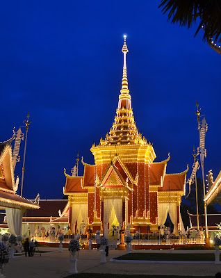 Veal Preah Meru crematorium, Funeral of King Norodom Sihanouk, Phnom Penh, Cambodia