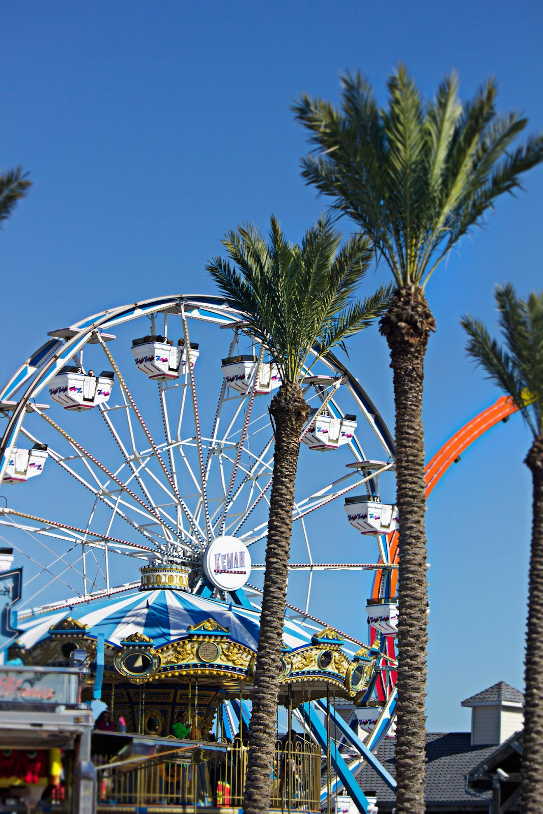 baroque ferris wheel with palm trees