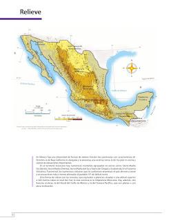 Apoyo Primaria Atlas de México 4to grado Bloque I lección 3 Relieve