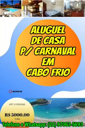 Casas Para Carnaval em Cabo Frio