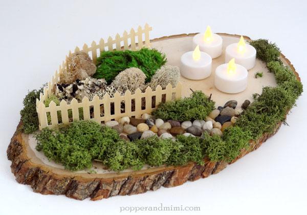 DIY Rustic Woodland Party Decor Centerpiece | popperandmimi.com