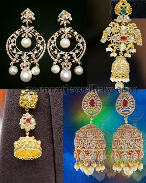Earrings by Musaddilal Jewelers