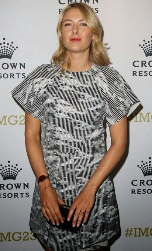 Once the weather gets cooler, the 27-year-old was heading out to enjoy a party of the IMG Tennis Player's on Club 23 Crown at Melbourne, Australia on Sunday, January 18, 2015.