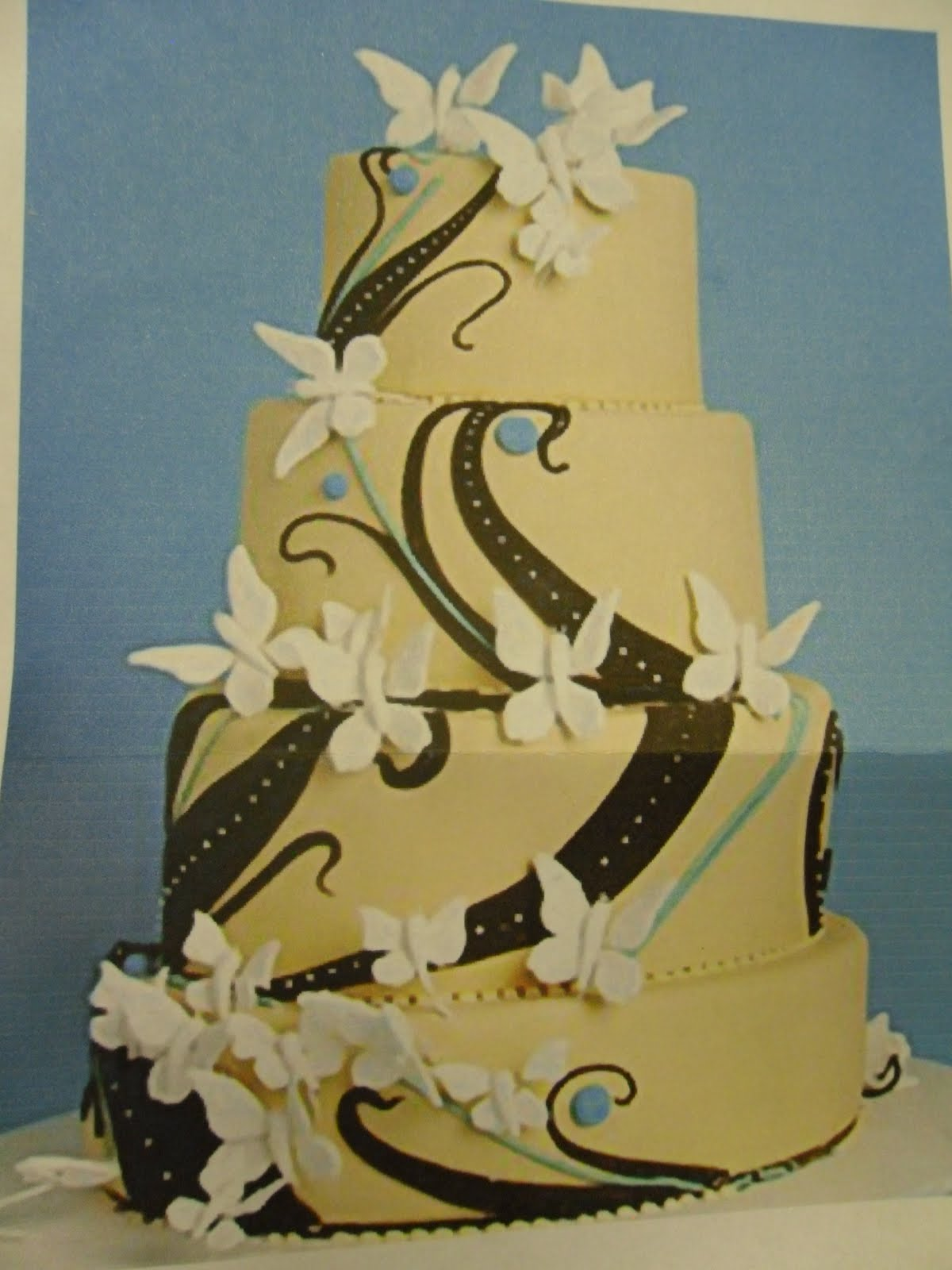 Cake Concepts by Cathy: Making an abstract design for a wedding cake...