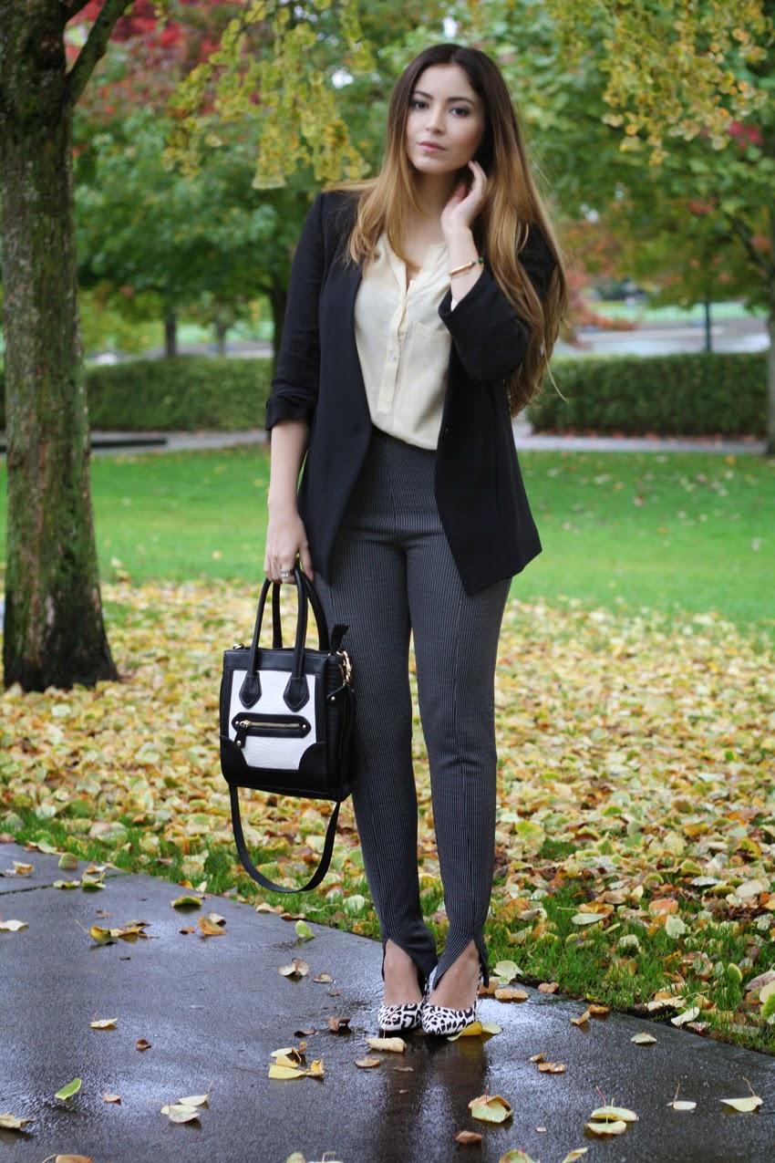 Style-Fashion-wearing-zara-blazer-blouse-topshop-trousers-nicholas-kirkwood-leopard-heels-aldo-bad
