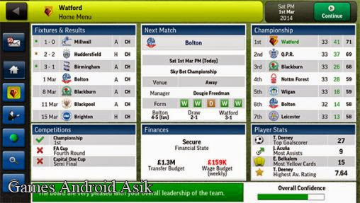 Android Games Football Manager Handheld 2014 Asik - 2