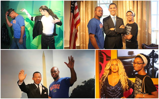 Madame Tussauds Wax Museum Orlando Florida President Obama Martin Luther King Jr. Michael Jackson Beyonce