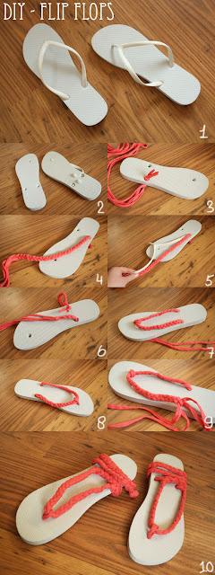 Reciclatex Cómo renovar nuestros flip flops con trenzas de trapillo
