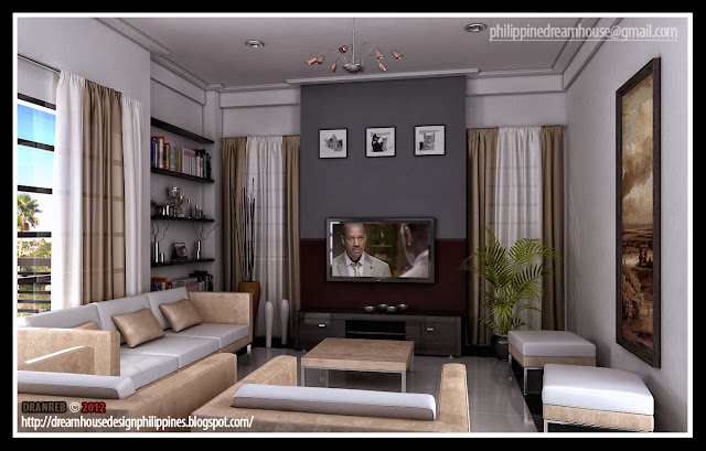 Philippine dream house design modern living room Dream room design
