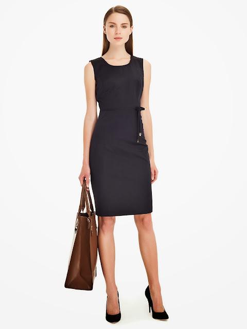 klasik kesim elbise modeli siyah 2014 elbise modelleri ipekyol