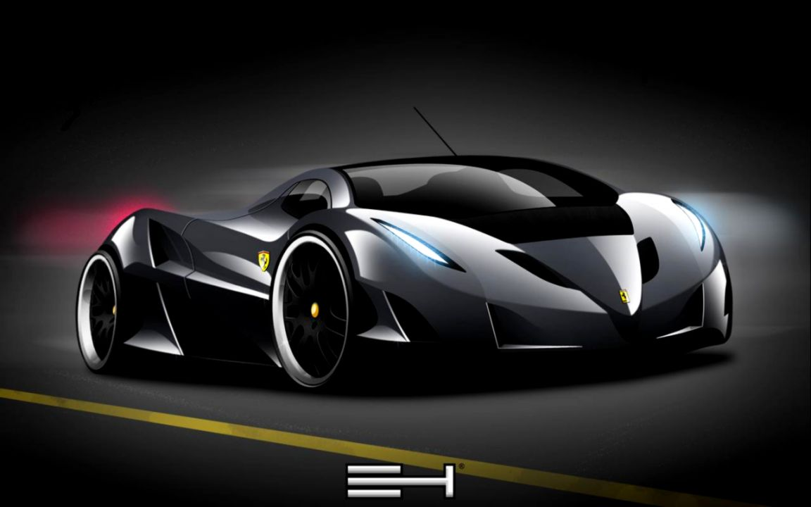 black ferrari cars wallpapers hd | best image background