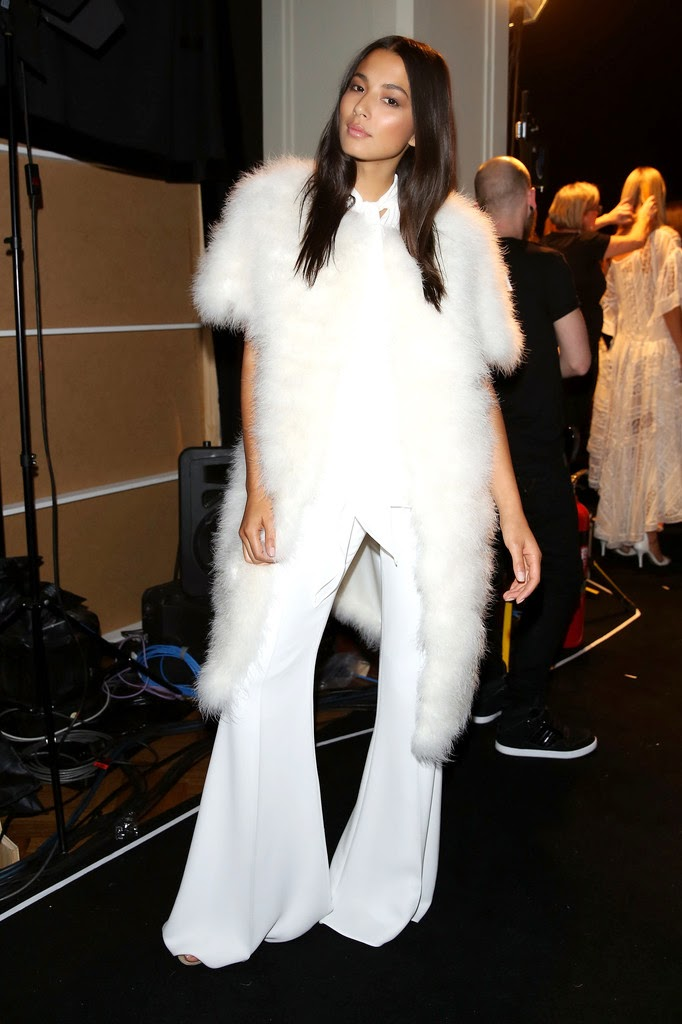 Jessica Gomes walks the David Jones Fall/Winter 2015 Fashion Show in Sydney