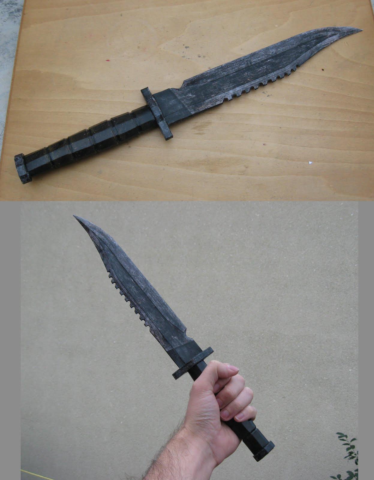 Fallout 3 Combat Knife Papercraft