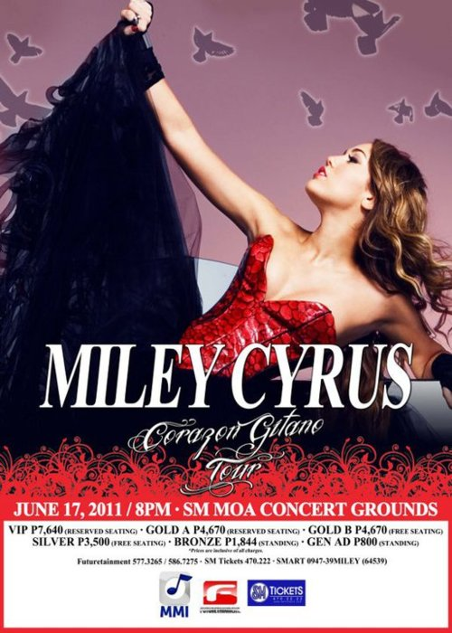 Miley Cyrus Live in Manila Ticket Prices, picture, image, photo, billboard, hd, hq,