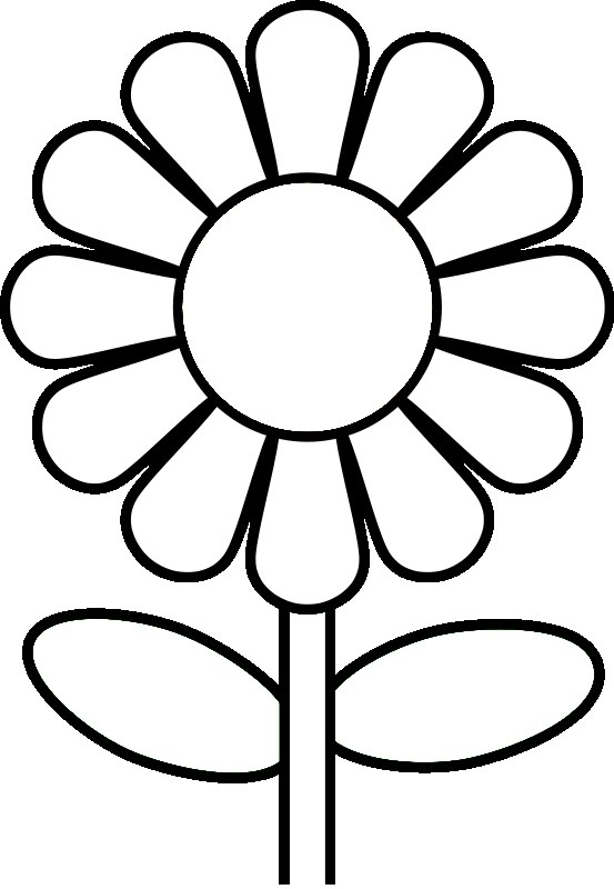 Preschool Flower Coloring Pages Flower Coloring Page Coloring Page For Kindergarten