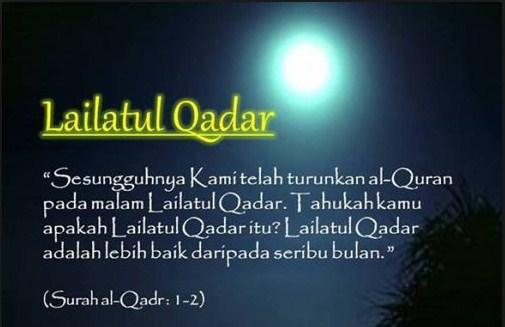 Gambar Kata Lailatul Qadar 2015 (1436H), Malam Seribu Bulan