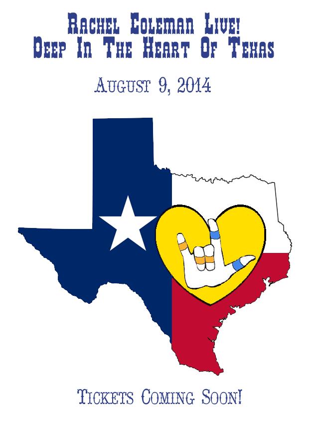 Rachel Coleman LIVE! in Austin, Texas: August 9, 2014