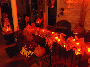 Evening Fall/ Halloween Front Porch, 2017