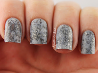 Grey & Silver Saran Wrap Nails