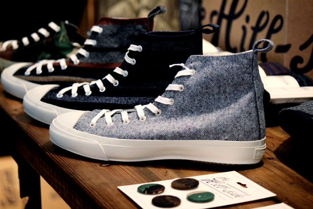 "The Hill Side ""Donegal Tweed"" High Top Sneakers 18,360yen ヒルサイド"