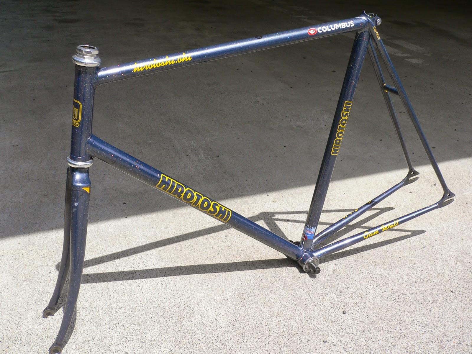 njs keirin track bike &frame for sell: GANWELL njs keirin frame set