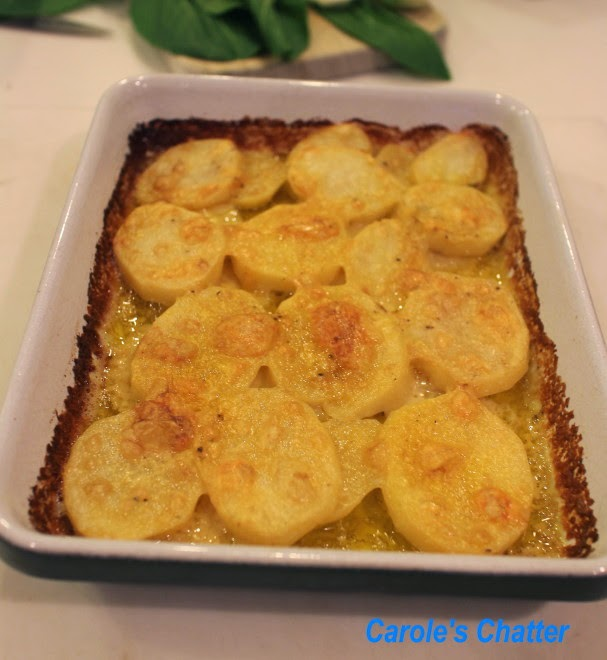 Cheesy Coconut Potatoes by Carole's Chatter