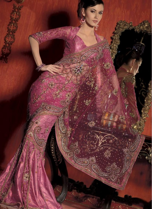 Abc hot photos latest designer sarees images 2013 style for Sari inspired wedding dress