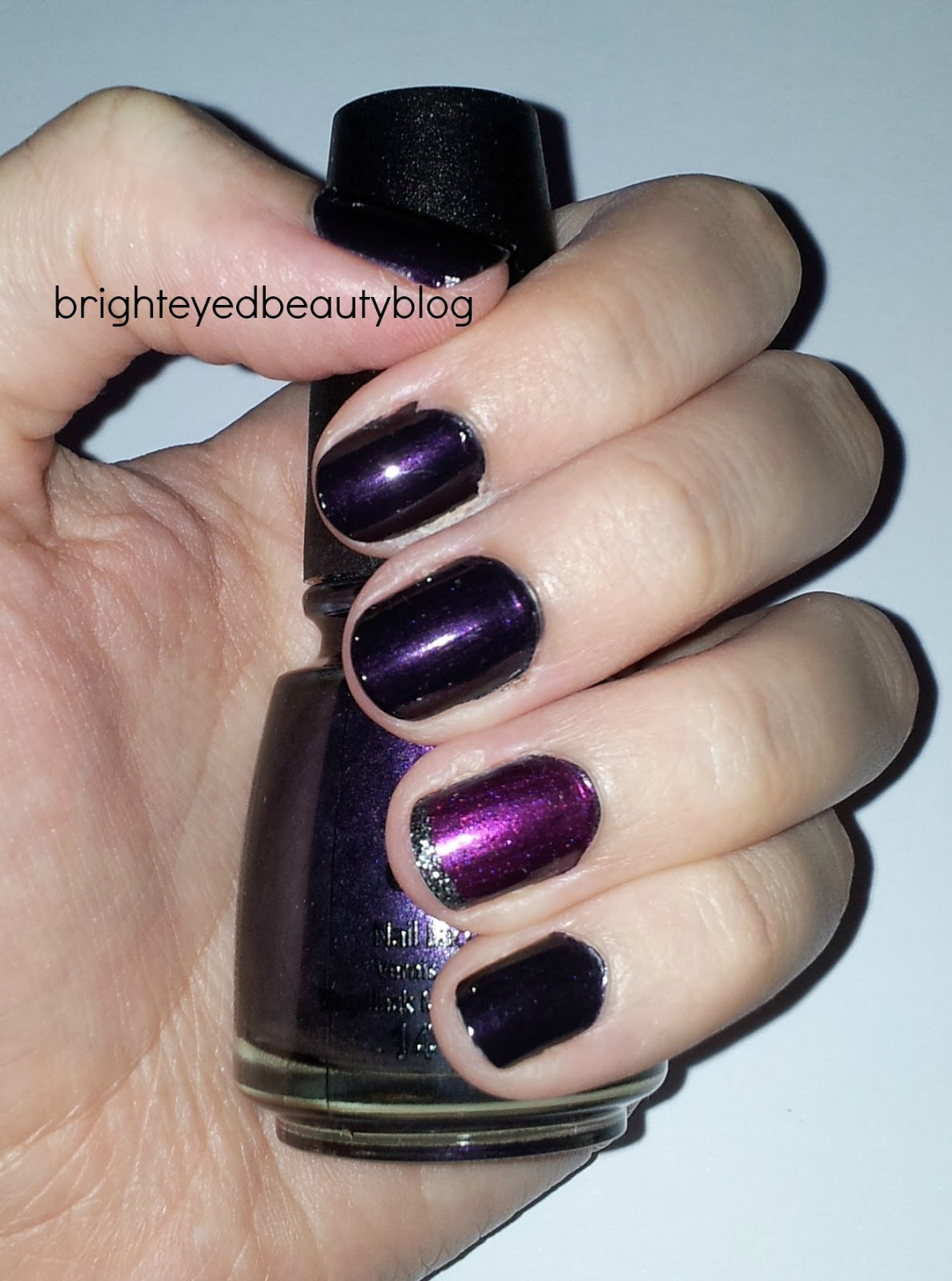 Swatches of China Glaze Nail Polish in Midnight Ride