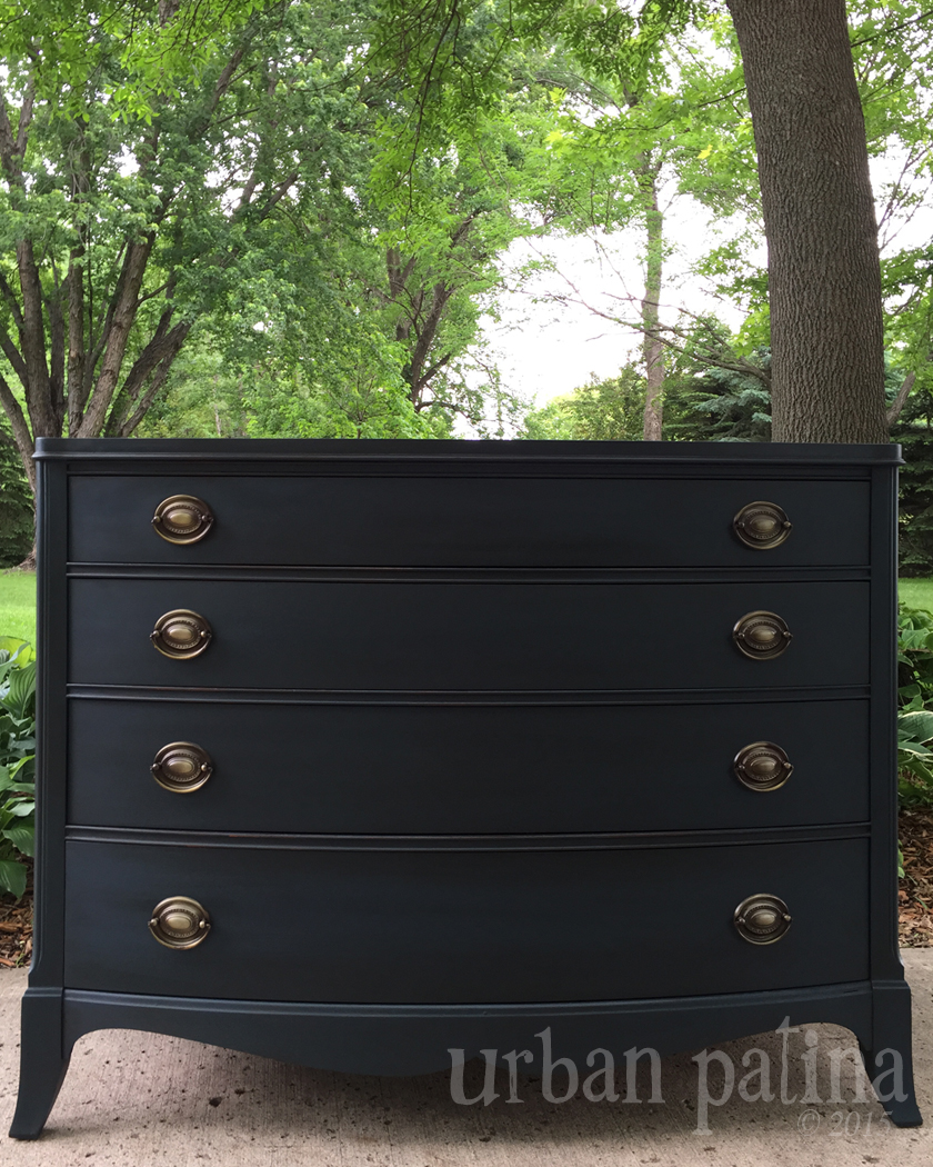 Urban patina authentically crafted home gift trifecta for Black chalk paint dresser