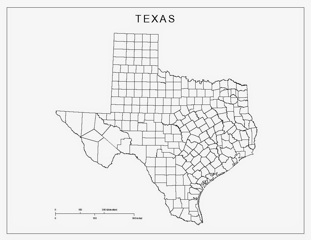 maps of texas black and white color 1