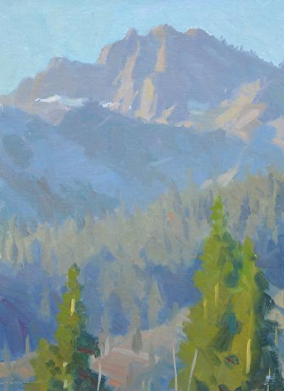 Sierra Buttes at Daybreak by Frank Ordaz