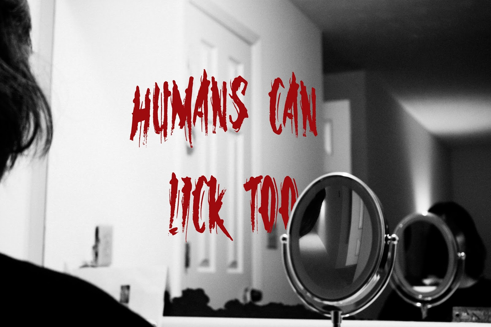 Humans lick hands too