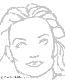 Portrait of Michelle Pfeiffer - stage 1
